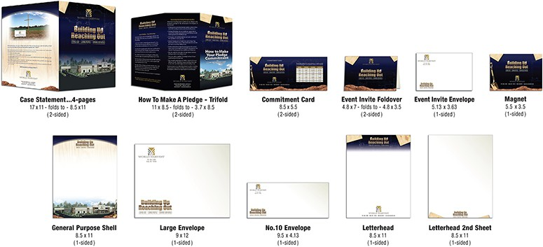 Sample themed church capital campaign materials