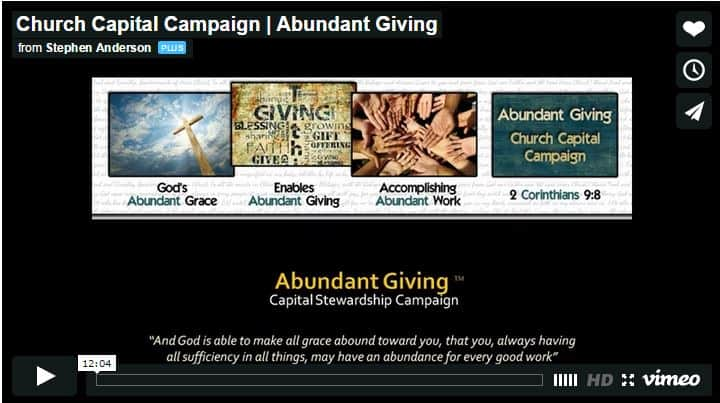 Church Capital Campaign Video
