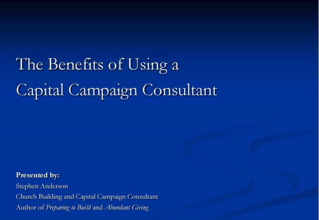 Why Hire A Capital Campaign Consultant